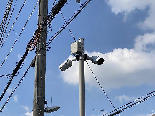 防犯カメラ 月極駐車場 柏原市国分本町 2